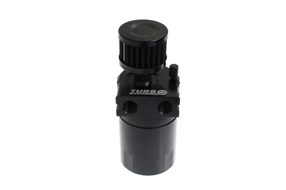 Oil catch tank 0.3L 10mm / 15mm TurboWorks PR Black - GRUBYGARAGE - Sklep Tuningowy